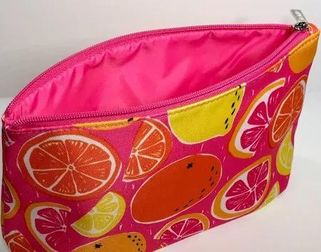 Clinique Makeup Bags Lemon Orange Pink Gfruit Lightly Padded